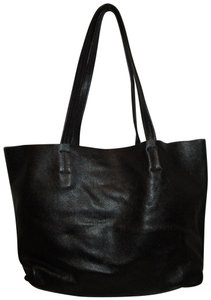 Damero Leather Large Onm003 Tote in black