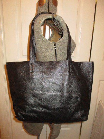 Damero Leather Large Onm003 Tote in black Image 1