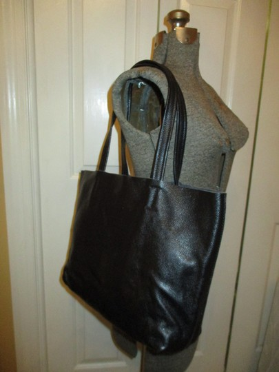 Damero Leather Large Onm003 Tote in black Image 11