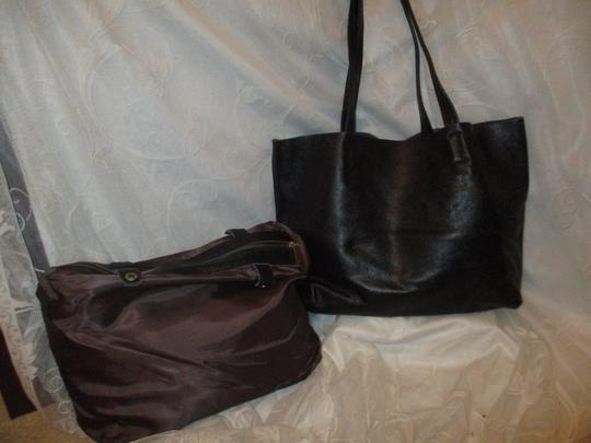 Damero Leather Large Onm003 Tote in black Image 2