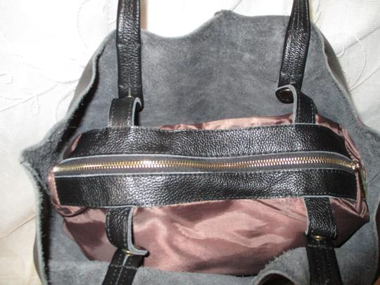 Damero Leather Large Onm003 Tote in black Image 3
