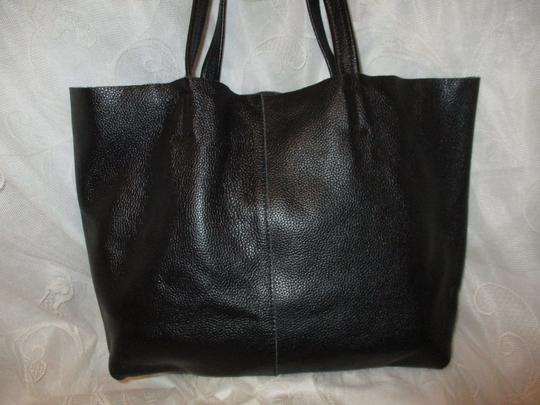 Damero Leather Large Onm003 Tote in black Image 8