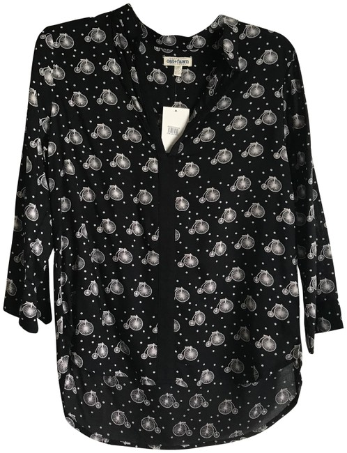 Preload https://img-static.tradesy.com/item/26007345/blackivory-new-blackivory-bicycle-print-34-sleeve-in-m-blouse-size-8-m-0-3-650-650.jpg