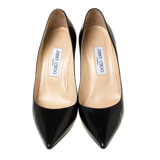Jimmy Choo Leather Pointed Toe Black Pumps Image 1