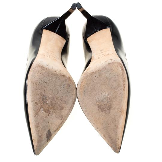 Jimmy Choo Leather Pointed Toe Black Pumps Image 3