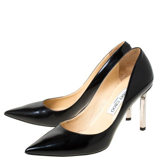 Jimmy Choo Leather Pointed Toe Black Pumps Image 4