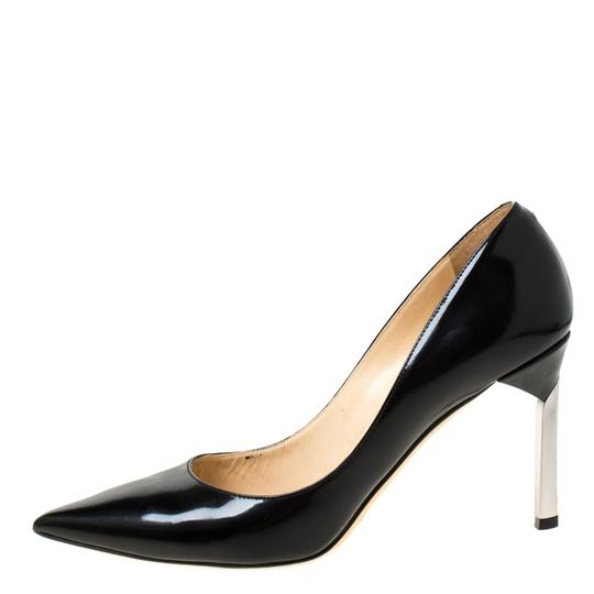 Jimmy Choo Leather Pointed Toe Black Pumps Image 5