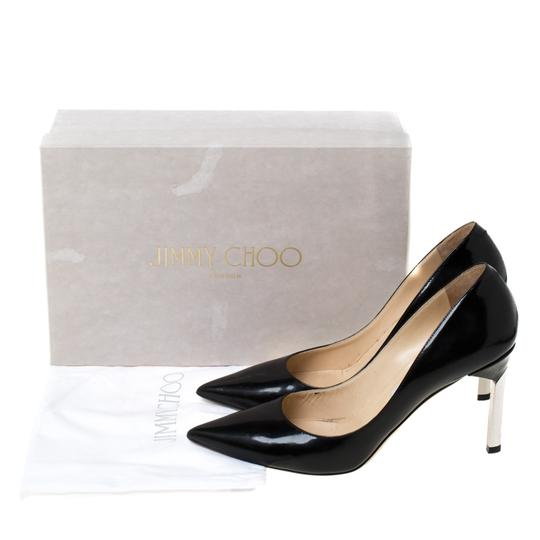 Jimmy Choo Leather Pointed Toe Black Pumps Image 7
