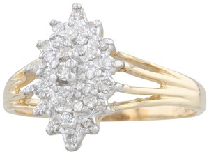 Other .19ctw Diamond Cluster Ring - 14k Size 7.75 Women's Vintage