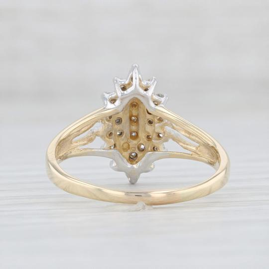Other .19ctw Diamond Cluster Ring - 14k Size 7.75 Women's Vintage Image 3