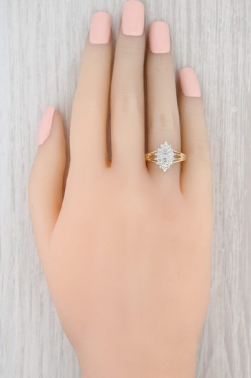 Other .19ctw Diamond Cluster Ring - 14k Size 7.75 Women's Vintage Image 6