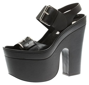 Stella McCartney Leather Platform Black Sandals