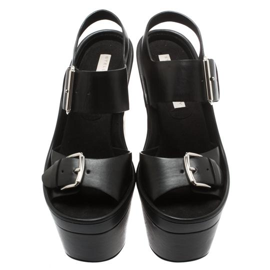 Stella McCartney Leather Platform Black Sandals Image 1