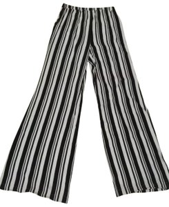 Ella Moss Wide Leg Pants black and white