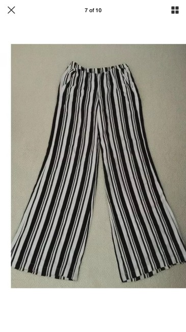 Ella Moss Wide Leg Pants black and white Image 6
