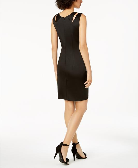 Connected Apparel Glitter Cut Out Illusion Pannel Dress Image 2