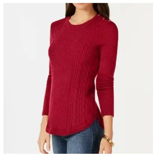 Preload https://img-static.tradesy.com/item/26007384/charter-club-cable-knit-red-sweater-0-0-650-650.jpg