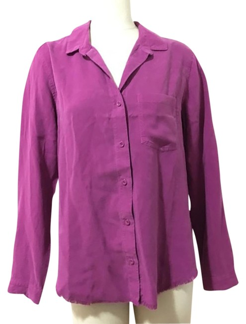 Preload https://img-static.tradesy.com/item/26007386/cloth-and-stone-purple-frayed-shirt-button-down-top-size-12-l-0-3-650-650.jpg