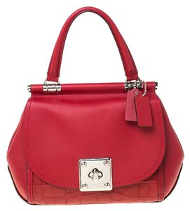 Coach Leather Red Clutch