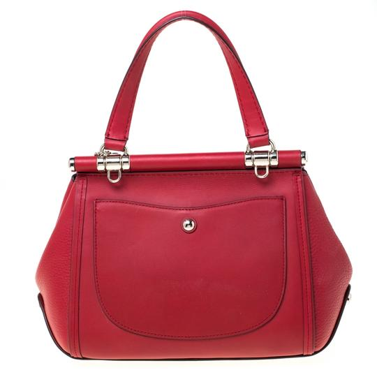Coach Leather Red Clutch Image 1