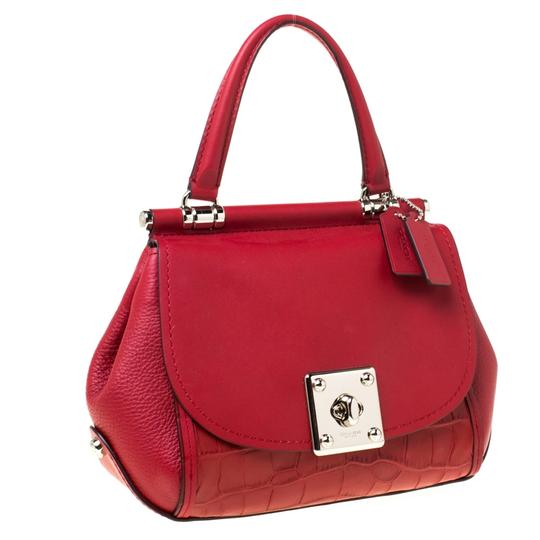 Coach Leather Red Clutch Image 3
