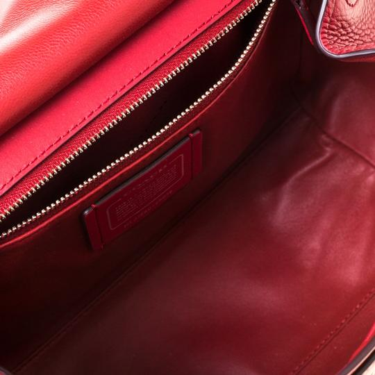 Coach Leather Red Clutch Image 7