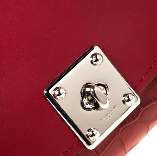 Coach Leather Red Clutch Image 8