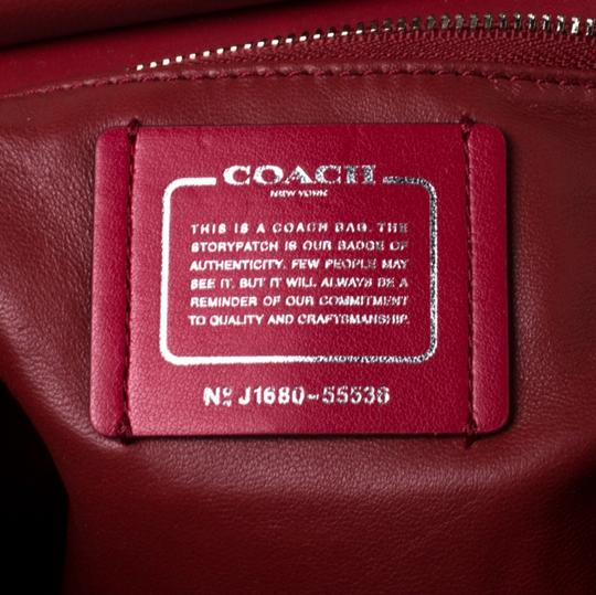 Coach Leather Red Clutch Image 9