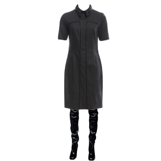 Preload https://img-static.tradesy.com/item/26007412/saint-laurent-new-yves-ysl-pre-fall-2012-wool-and-leather-38-mid-length-workoffice-dress-size-4-s-0-1-650-650.jpg