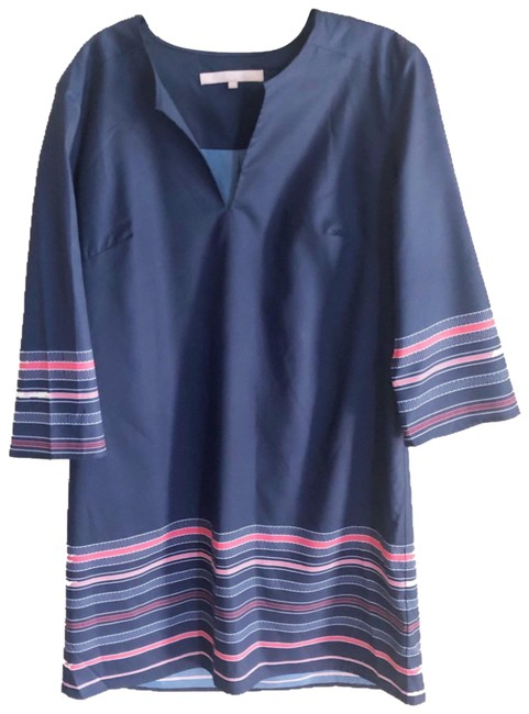 Preload https://img-static.tradesy.com/item/26007434/anthropologie-navy-hutch-striped-34-sleeve-tunic-short-casual-dress-size-6-s-0-3-650-650.jpg