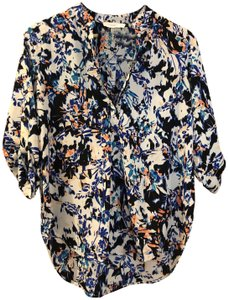 Lush Fall Summer Work Top Multicolored