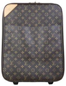 Louis Vuitton Pegase 45 Rolling Luggage Monogram Brown Travel Bag