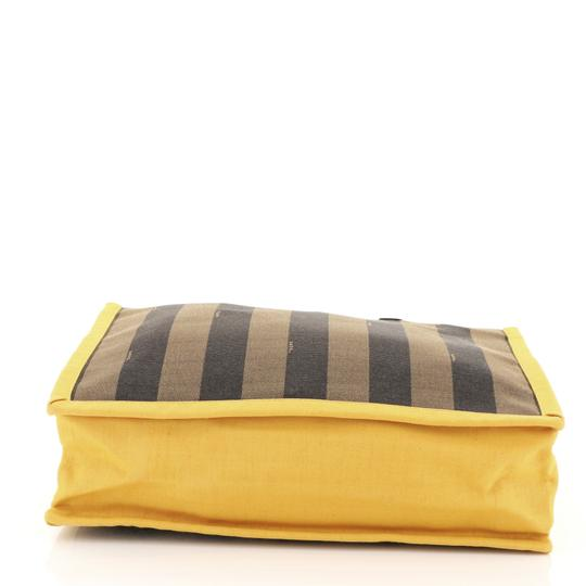 Fendi Pequin Tote in black, brown and yellow Image 4