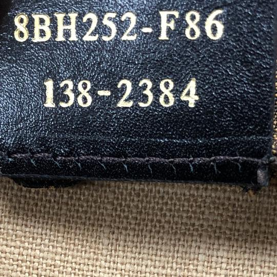 Fendi Pequin Tote in black, brown and yellow Image 7