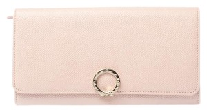 BVLGARI Leather Logo Clip Continental Wallet