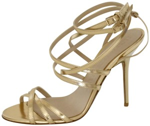 Burberry Wedges Prorsum Python Gold Sandals