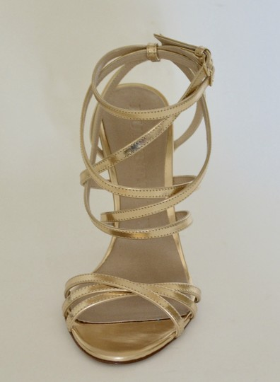 Burberry Wedges Prorsum Python Gold Sandals Image 1