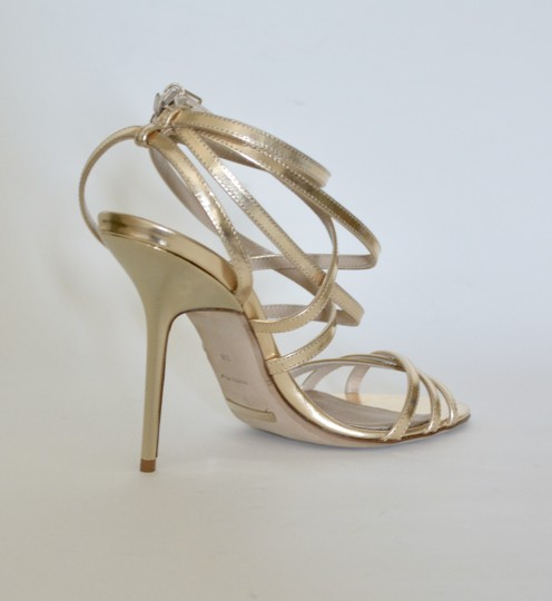 Burberry Wedges Prorsum Python Gold Sandals Image 3