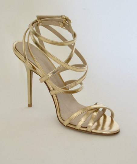 Burberry Wedges Prorsum Python Gold Sandals Image 4