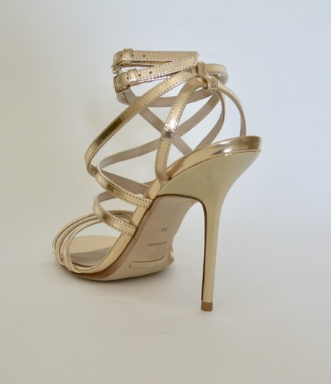 Burberry Wedges Prorsum Python Gold Sandals Image 5