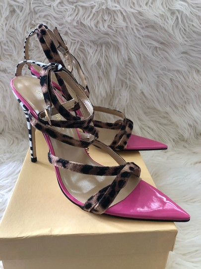 Gianvito Rossi pink, leopard and zebra print Sandals Image 3