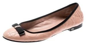 Dior Leather Quilted Ballet Beige Flats