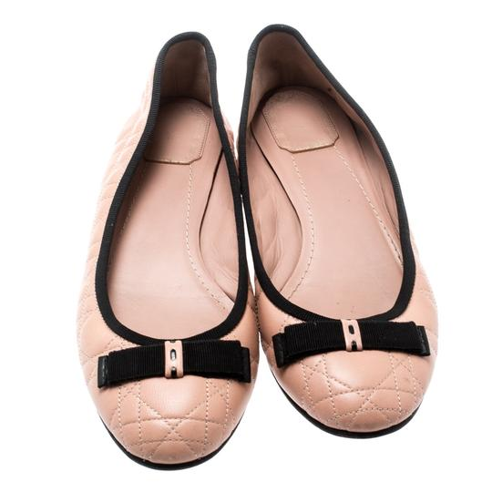 Dior Leather Quilted Ballet Beige Flats Image 1