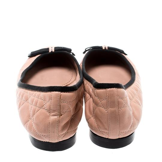 Dior Leather Quilted Ballet Beige Flats Image 2