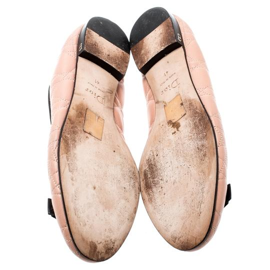 Dior Leather Quilted Ballet Beige Flats Image 3