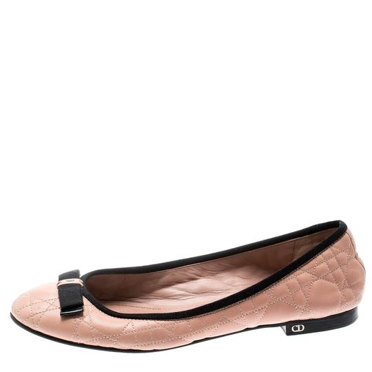 Dior Leather Quilted Ballet Beige Flats Image 4