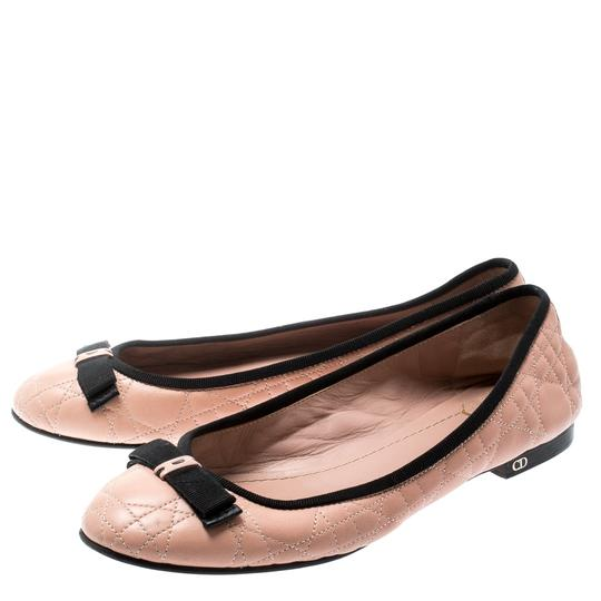 Dior Leather Quilted Ballet Beige Flats Image 5