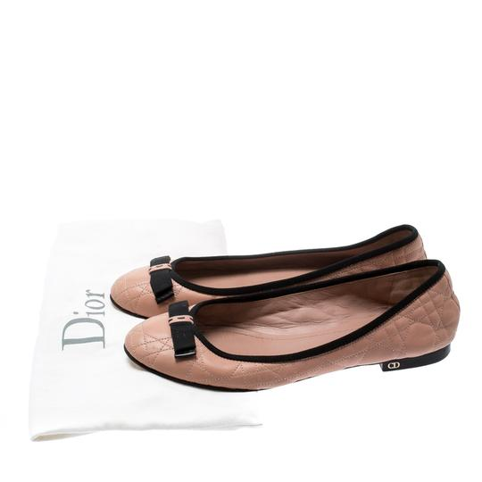Dior Leather Quilted Ballet Beige Flats Image 7