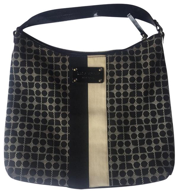 Item - Winter Collection Black and Cream Hobo Bag