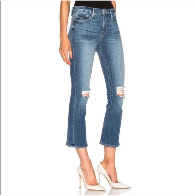 FRAME Boot Cut Jeans-Distressed Image 1